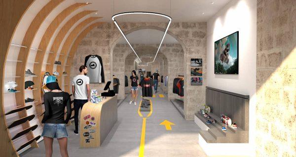 Image 3D aménagement design commercial