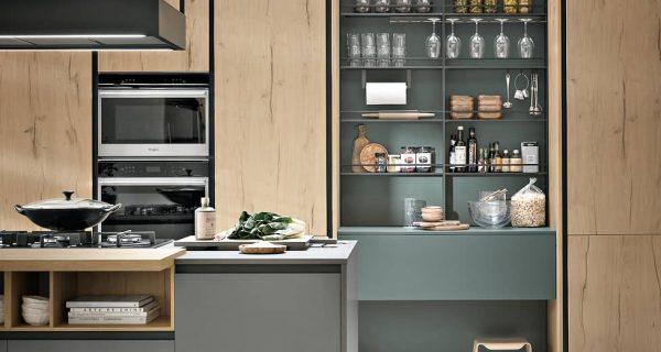 Détail de l'aménagement d'une cuisine sur mesure